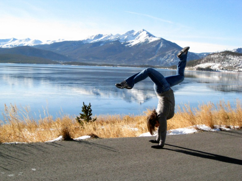 Handstand at Lake Dillon, CO