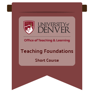 Teaching Foundations short course badge