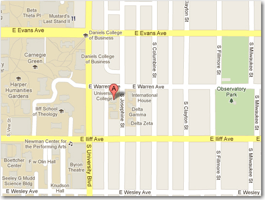 OLLI Office - 2211 South Josephine - Map