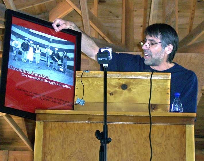Speaking at the Ludlow Memorial Service (June 2005)