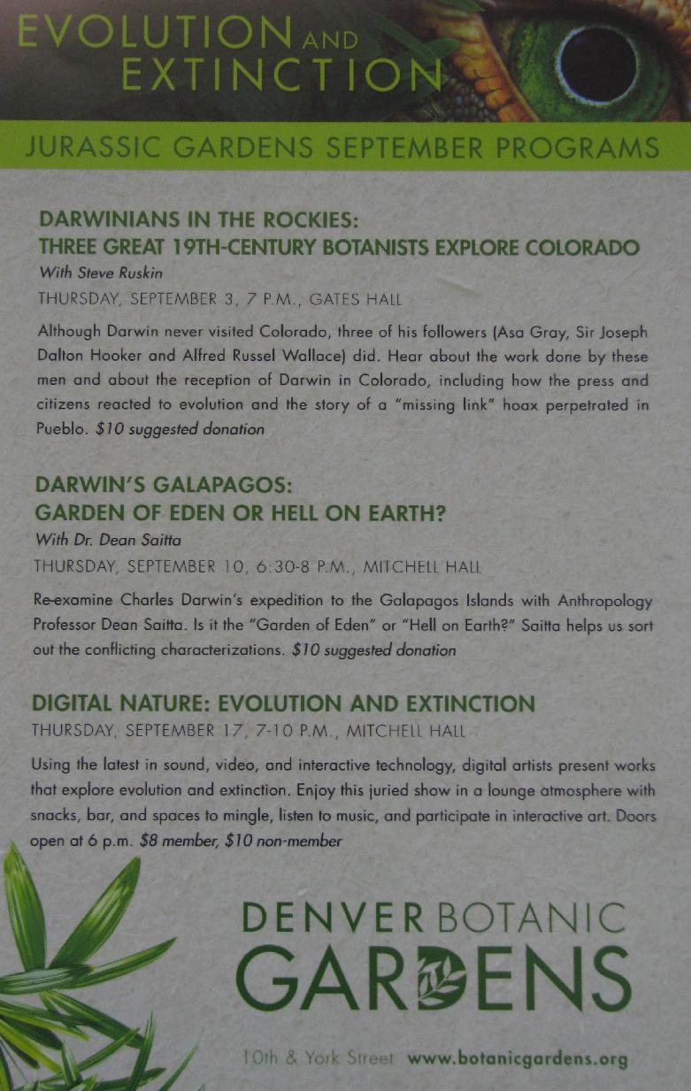 Denver Botanic Gardens Talk (9/10/2009)