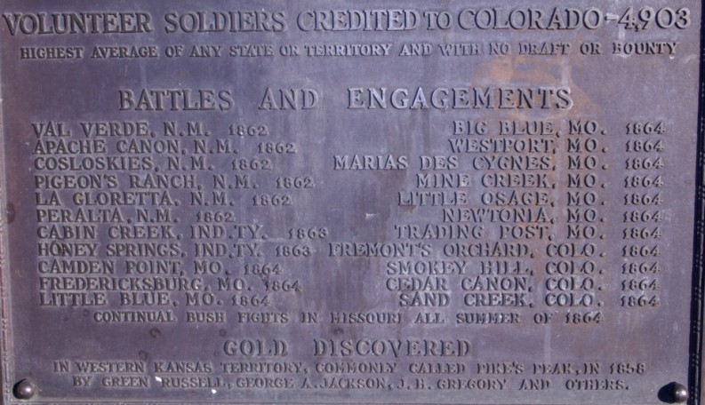 Civil War Monument Battle List, Colorado Capitol (Paula Bard)